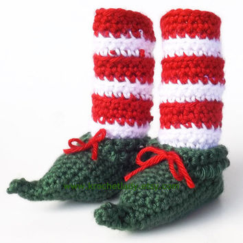Elf Baby Booties Baby's 1st Christmas Pixie Leggings