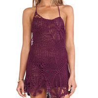 Indah Sloan Web Cocktail Dress in Purple