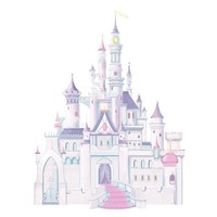 York Wallpaper RMK1546GM Kids Book Disney Castle Giant Wall Decal