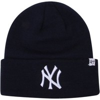 '47 Brand New York Yankees Raised Cuffed Knit Beanie - Navy Blue