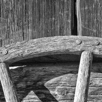 Wooden Wagon Wheel and Woodgrain Textures (IMG_7223)