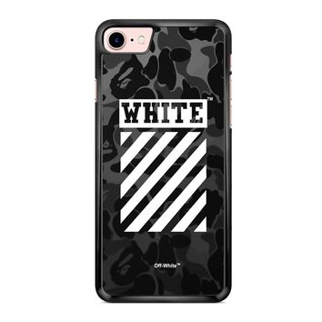Off White Bape Camo iPhone 7 Case