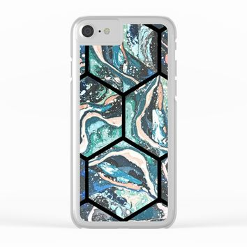 Abstract - Title- Pattern Clear iPhone Case by Salome
