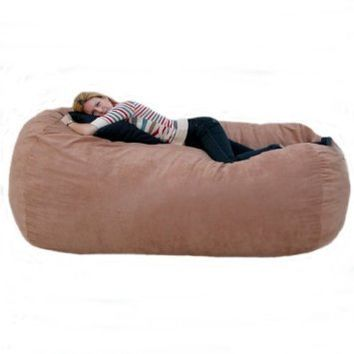 Cozy Sack 7 Feet Bean Bag Chair X Large Rust