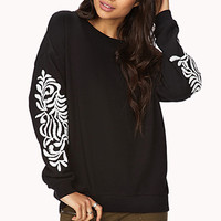 Cool-Girl Baroque Sweatshirt