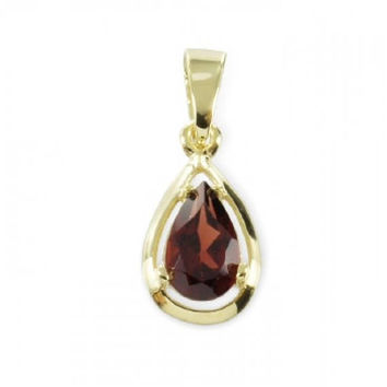 Garnet Pendant (8ct yellow gold/8.0mm/0.60grams)