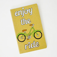 Customized Hand Painted Notebook, Moleskine journal, sketchbook, Bicycle Art, Enjoy the Ride #notebook #traveljournal #moleskine