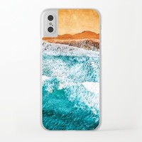 Tropical VI - Beach Waves II Clear iPhone Case by tmarchev