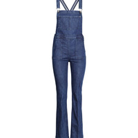 H&M Flared Denim Bib Overalls $39.99