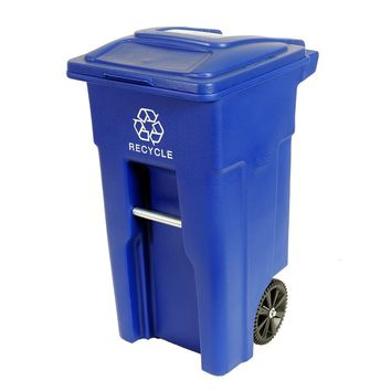 Residential Heavy Duty 32 Gallon Two Wheeled Recycling bin