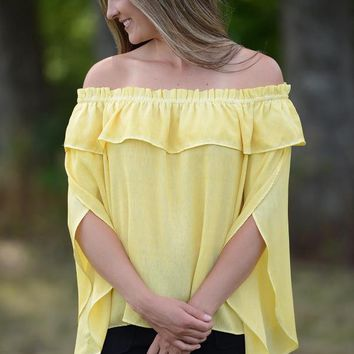 Sunflower Off Shoulder Tunic