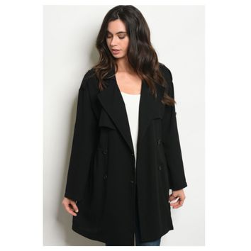 Simply a Must, Black Peacoat Style Jacket