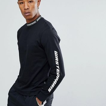 Wasted Paris Squadra Long Sleeve T-Shirt In Black at asos.com