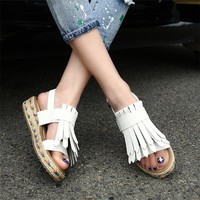 Bohemian summer shoes woman gladiator sandals