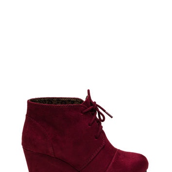 Panel Accent Wedge Booties