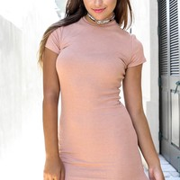 Feeling Wild Apricot Short Sleeve Dress