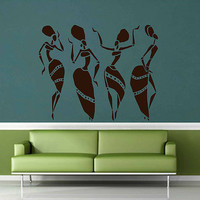 African womans wall decals Afro Wall Decals African Art Afro Wall Art African Decals Hairstyle Decals Afro Hair Art kik3327