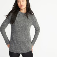 Mock-Neck Bouclé Sweater for Women | Old Navy