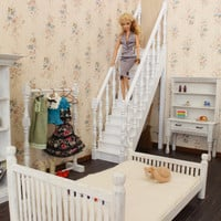 ONLY ONE - OOAK 1/6 scale Staircase for dolls(Blythe, Barbie, bjd, Momoko).