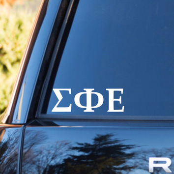 Sigma Phi Epsilon Car Decal | Sigma Phi Elsilon Car Sticker | Sigma Phi Epsilon Sorority | Sigma Phi Epsilon Laptop | Greek Stickers | 160