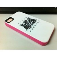 Juicy Couture White with Pink Hard Case Cover For Iphone 5 5G Retail package