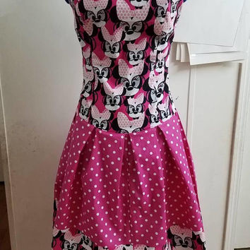 Minnie - mouse - Disney - princess - and - polka - dot - strapless - pinup - rockabilly - dress