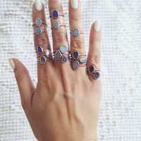 Australian Blue Opal Stacking Ring