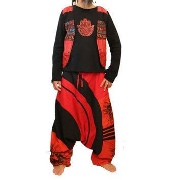Long Harem Pants  - Aladdin Trousers - Afghani Pants - Alibaba Pants - Men - Women - Cotton - X-Long