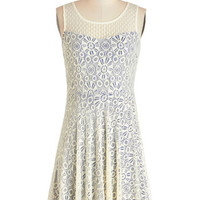 ModCloth Americana Mid-length Sleeveless A-line Singing in Round Dress