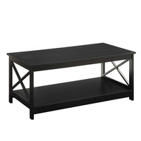 Convenience Concepts 203082 Oxford Black Coffee Table