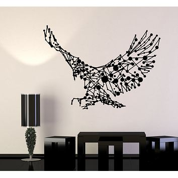 Vinyl Wall Decal Abstract Eagle Flying Big Bird Patriot Art Decor Stickers Mural (g207)