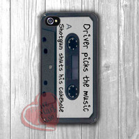 Supernatural quote in retro cassette -driver picks the music -dta for iPhone 6S case, iPhone 5s case, iPhone 6 case, iPhone 4S, Samsung S6 Edge