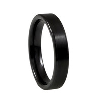 Black blush ceramic ring for women