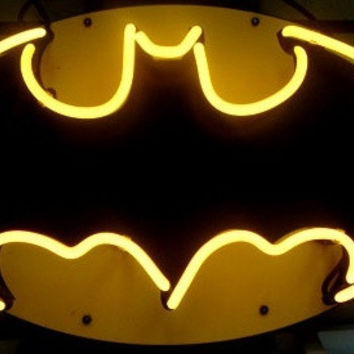 "BATMAN ACTION HERO BEER BAR  NEON LIGHT SIGN  NEW 19""X15"" (Size: 19"" by 15"") = 1928066180"