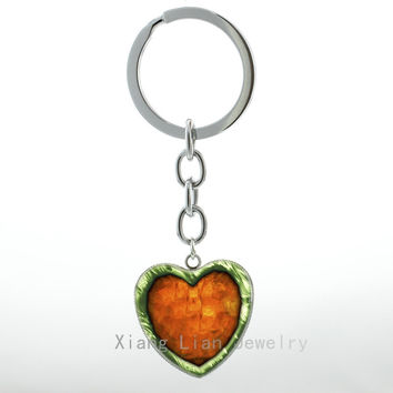Life Heart Container Pendant key chain ring case for Legend of Zelda Piece of Heart keychain Geekery Charm Twilight jewelry H95