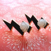 Shazam Lightning Bolt Earrings