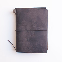 Midori Traveler's Notebook Leather Journal Black Passport Edition
