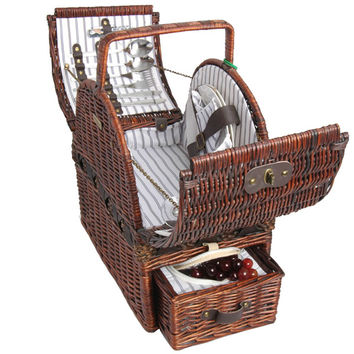 Willow Picnic Basket for 2 Persons 212