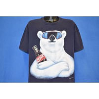 90s Coca Cola Polar Bear Mascot Double-Sided t-shirt Extra Large