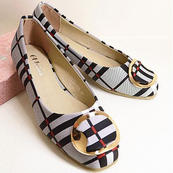 ladies summer fashion flat shoes women Black