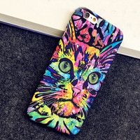 Colorful Cat Painting Iphone 6 6s plus Cases