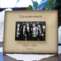 Personalized Groomsmen Printed picture Frame