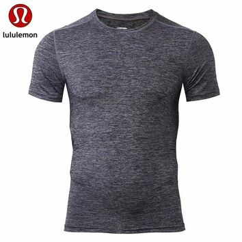 Lululemon Men S Casual Air Solid All Match Quick Dry Short Sleeved T Shirt