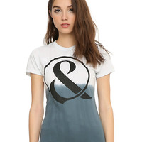 Of Mice & Men Ampersand Logo Girls Dip Dye T-Shirt