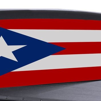 Puerto Rico Flag Universal Truck Rear Window 50/50 Perforated Vinyl Decal
