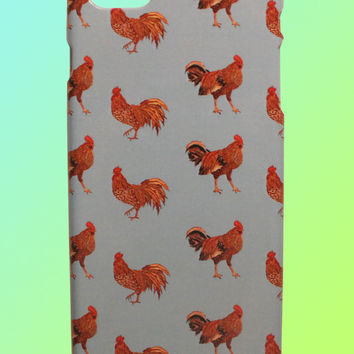 Rooster Pattern - iPhone Case