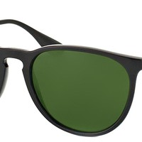 Cheap Authentic Ray Ban RB 4171 Erika 601/2P Matte Black Sunglasses Green Polar Lens outlet