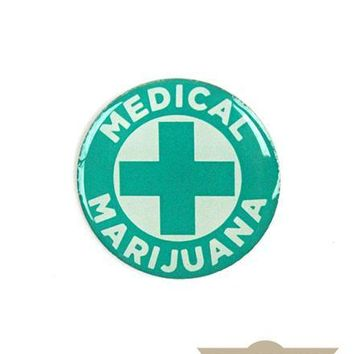Medical Marijuana Vintage Pin