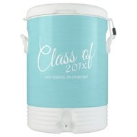 Custom Class of for Graduation or Reunion Aqua Igloo Beverage Cooler