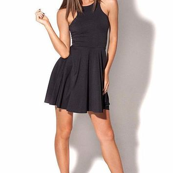 Chicloth  Scoop Neck Body hugging Mini Tank Dress